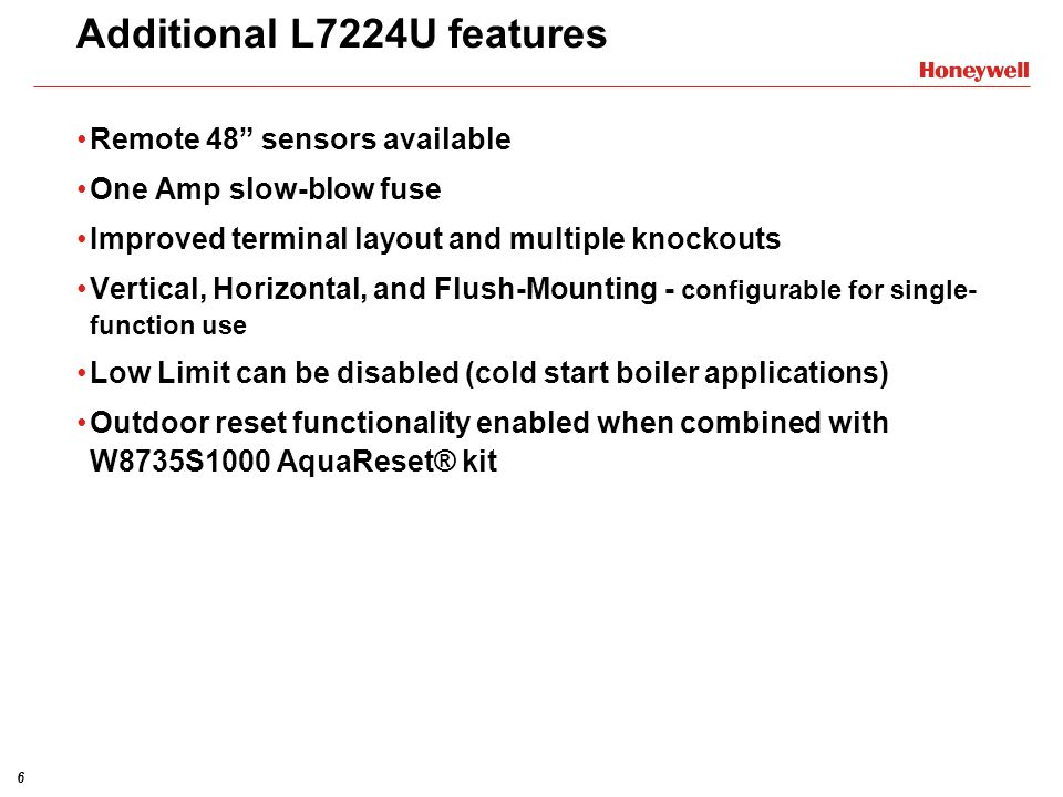 Additional L7224U features