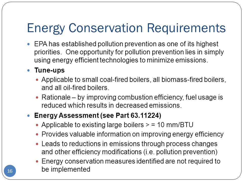 Energy Conservation Requirements