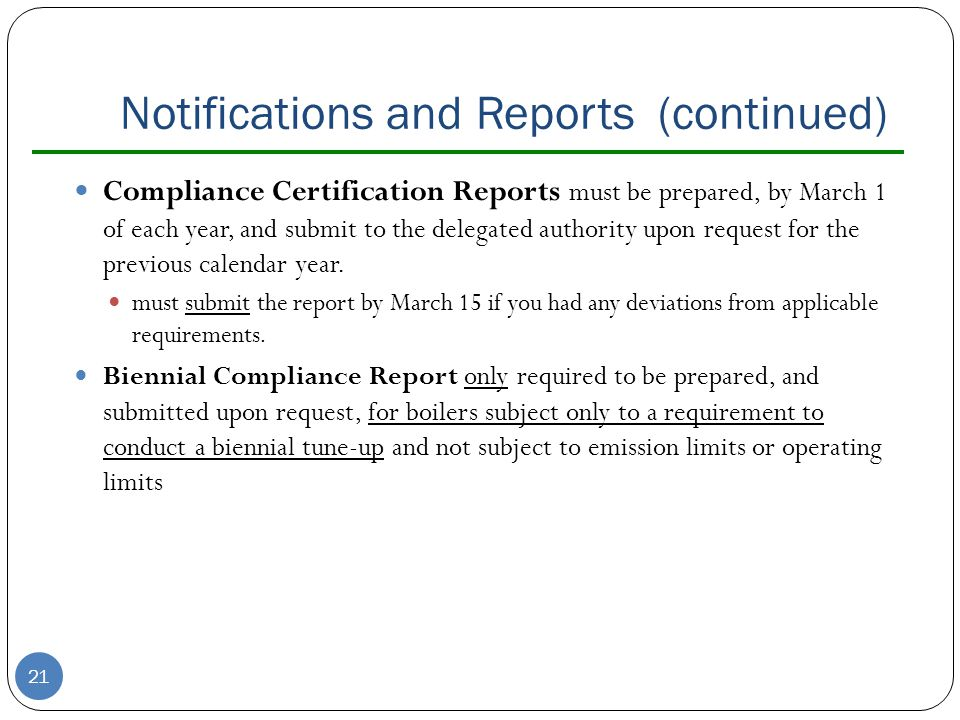 Notifications and Reports (continued)