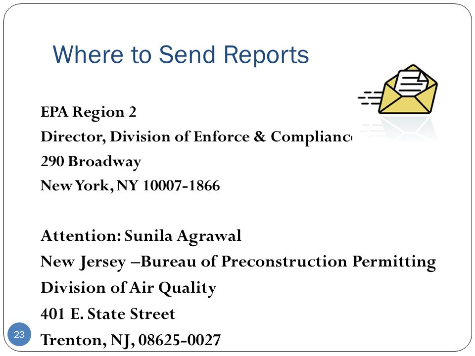 Where to Send Reports Attention: Sunila Agrawal