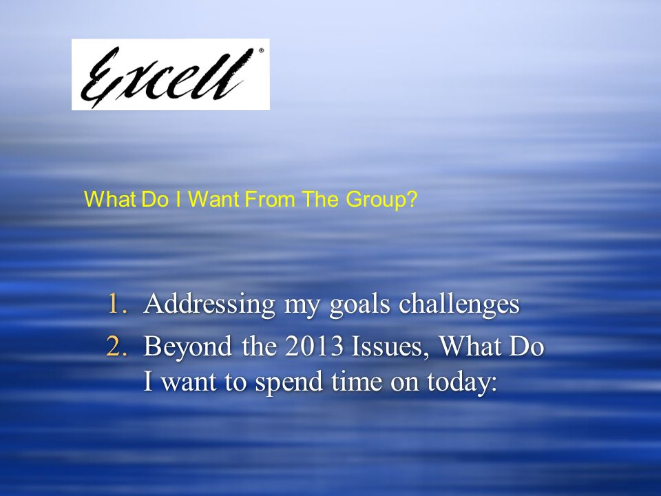 Addressing my goals challenges