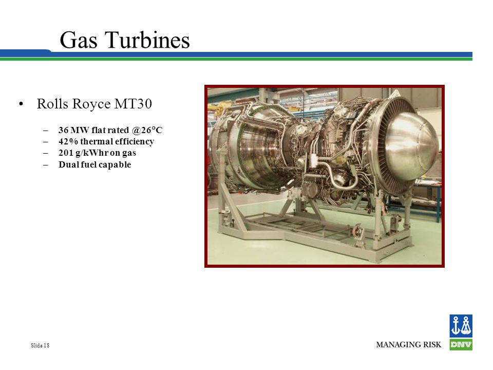 Gas Turbines Rolls Royce MT30 36 MW flat rated @26C