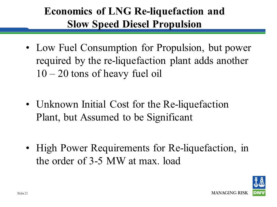 Economics of LNG Re-liquefaction and Slow Speed Diesel Propulsion