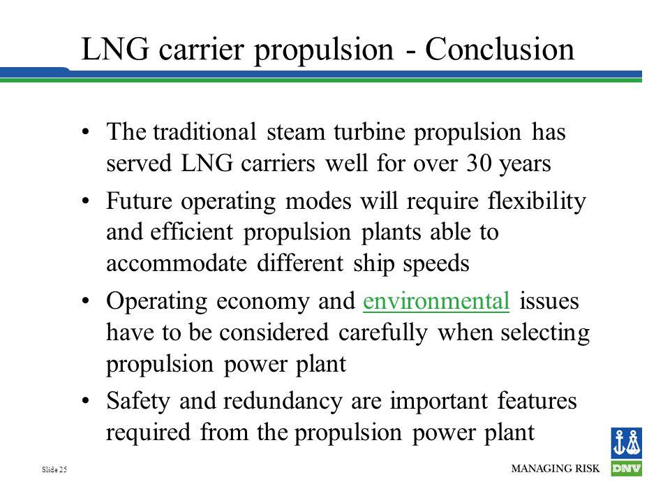 LNG carrier propulsion - Conclusion