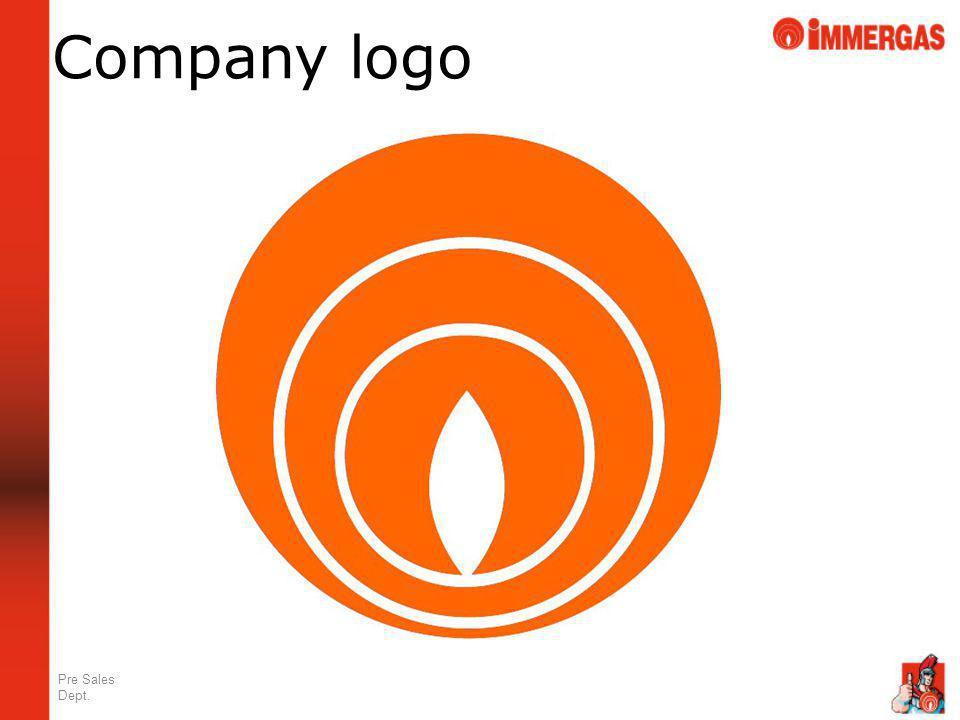 Company logo Pre Sales Dept.
