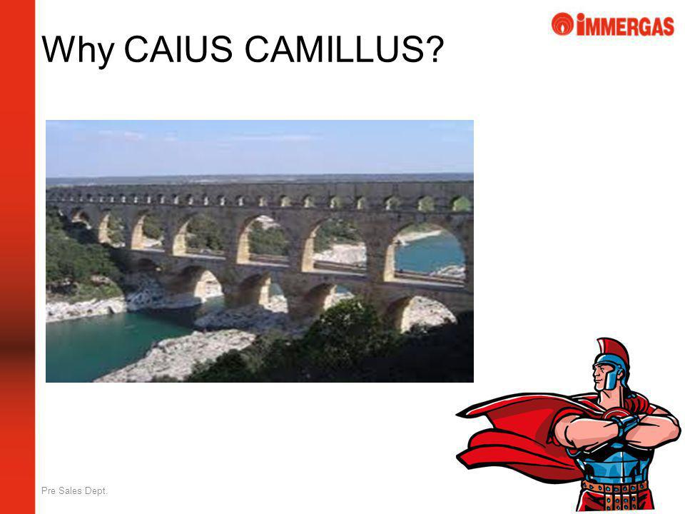 Why CAIUS CAMILLUS Pre Sales Dept.