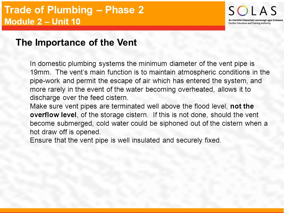 The Importance of the Vent