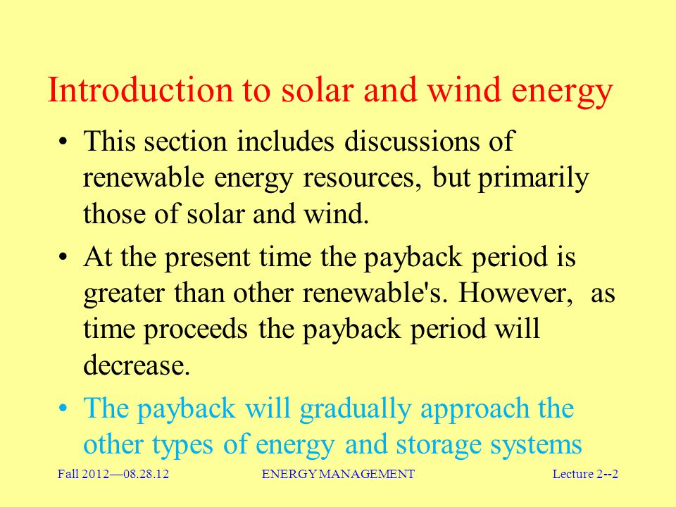 Introduction to solar and wind energy