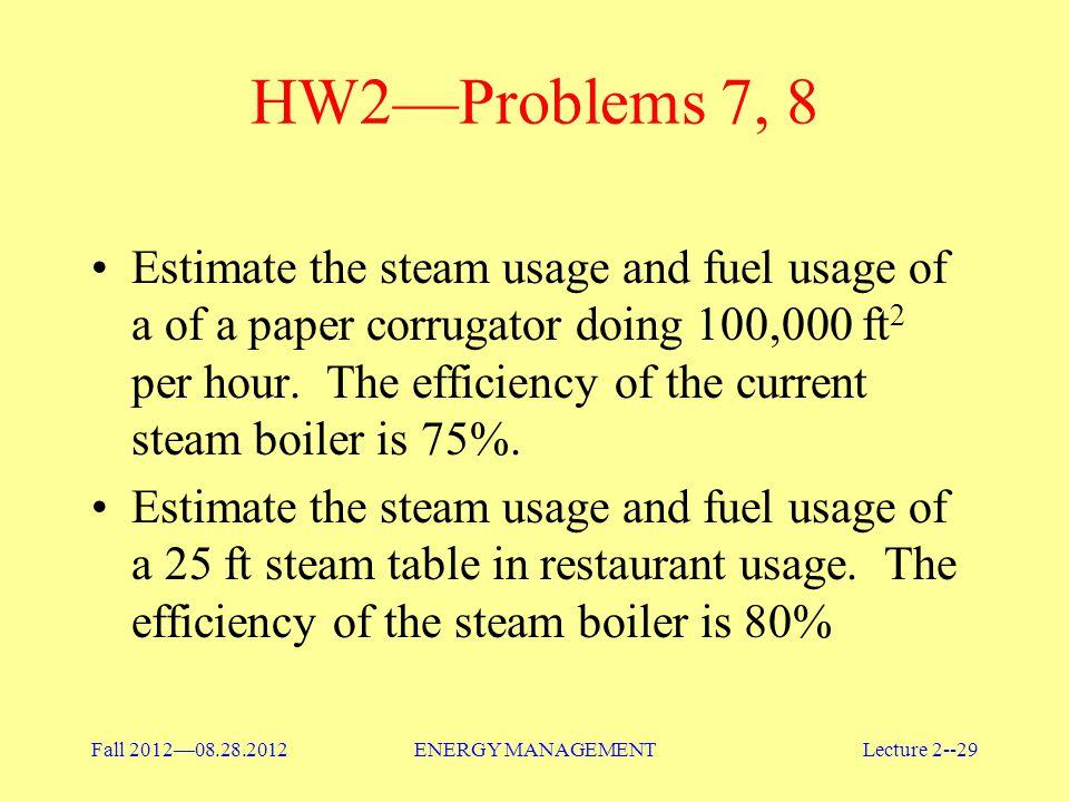 HW2—Problems 7, 8