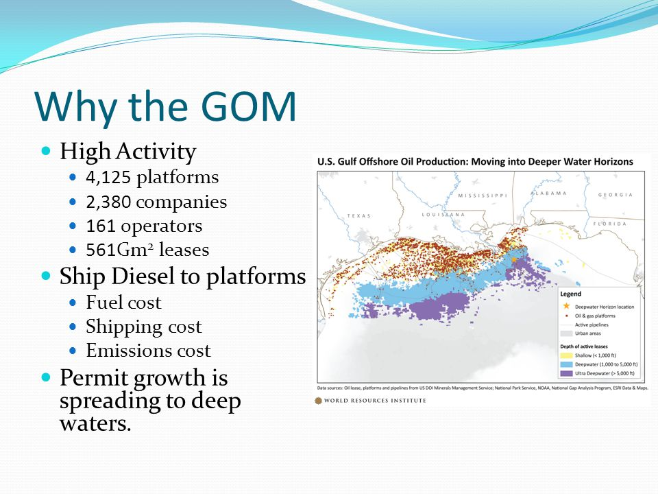 Why the GOM High Activity Ship Diesel to platforms