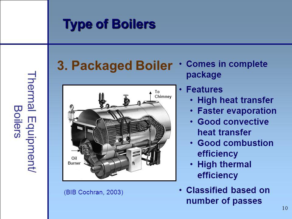 Type of Boilers 3. Packaged Boiler Thermal Equipment/ Boilers