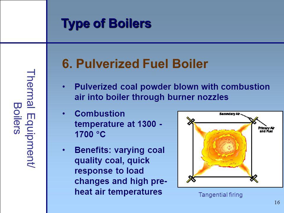 6. Pulverized Fuel Boiler