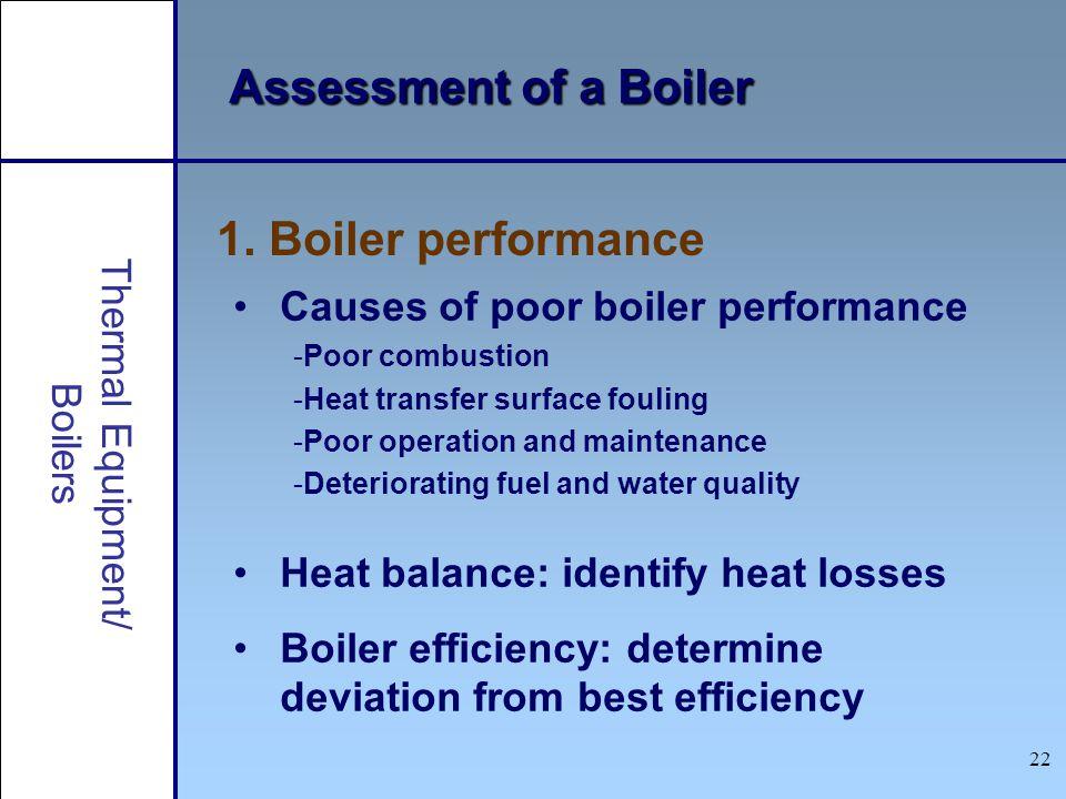 Assessment of a Boiler 1. Boiler performance