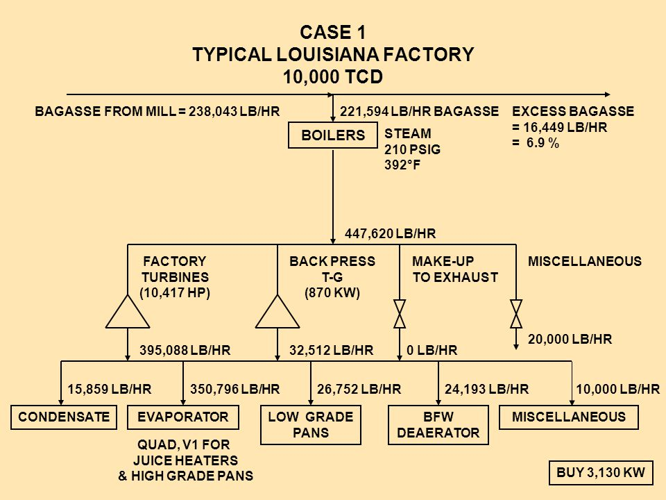CASE 1 TYPICAL LOUISIANA FACTORY 10,000 TCD