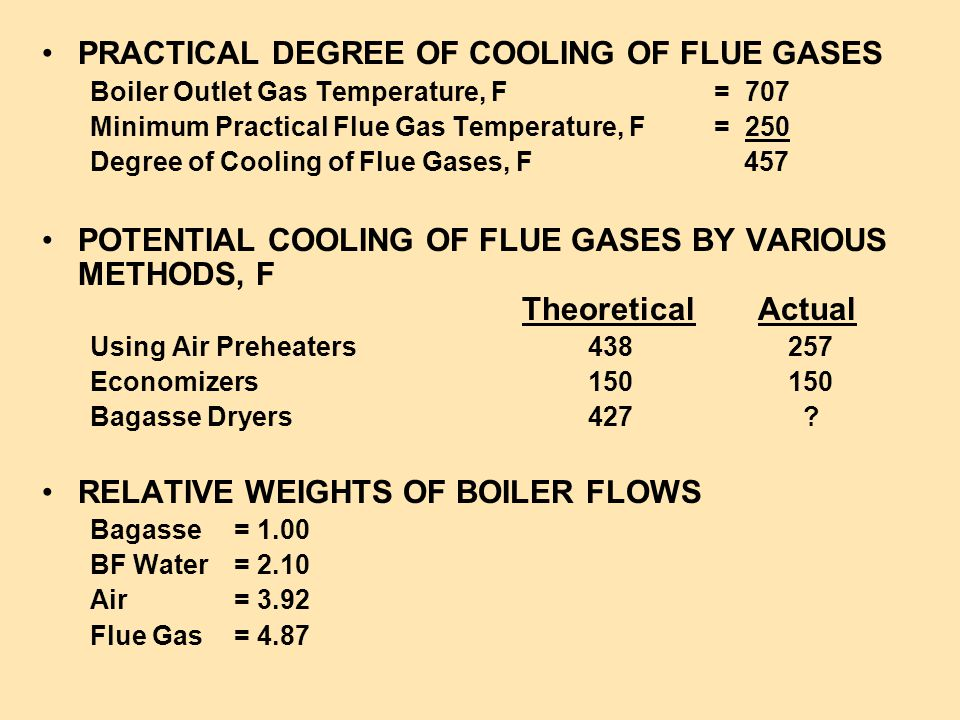PRACTICAL DEGREE OF COOLING OF FLUE GASES