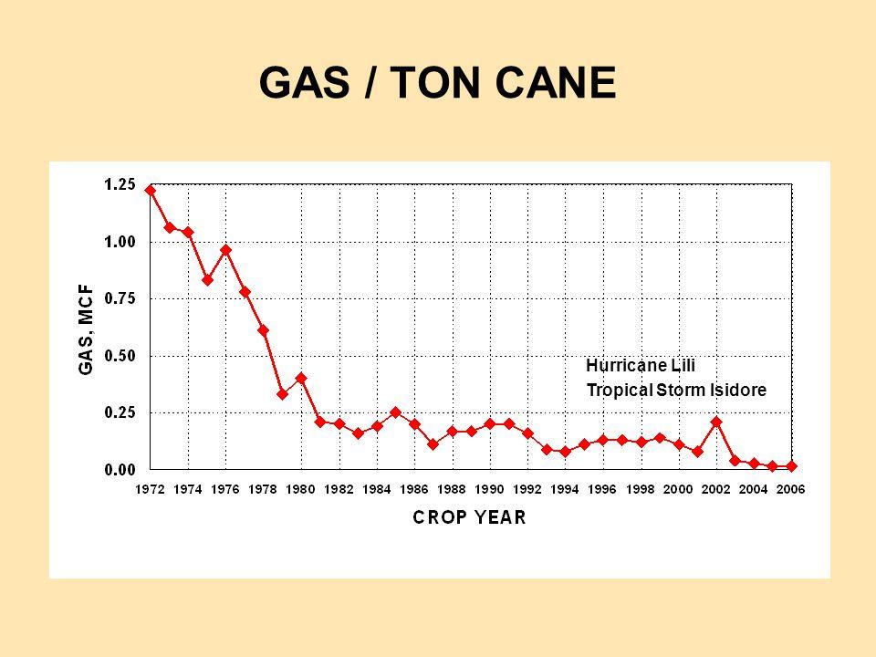 GAS / TON CANE Hurricane Lili Tropical Storm Isidore