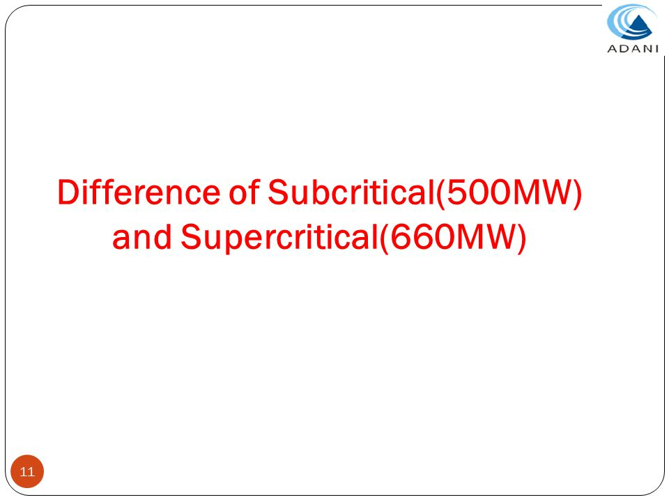 Difference of Subcritical(500MW) and Supercritical(660MW)