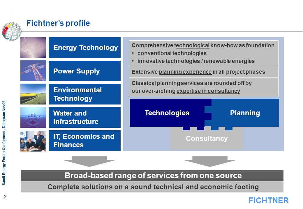 Broad-based range of services from one source