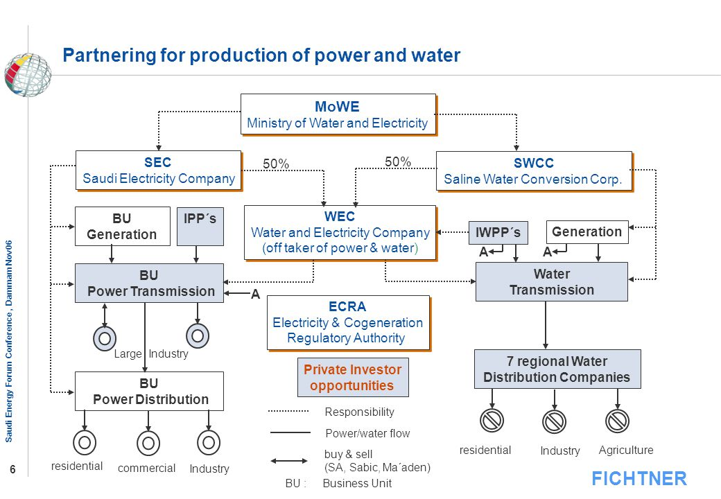 Partnering for production of power and water