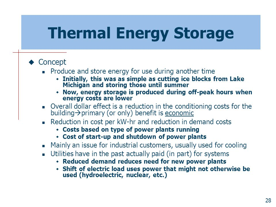 Thermal Energy Storage