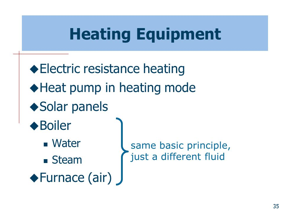 Heating Equipment Electric resistance heating