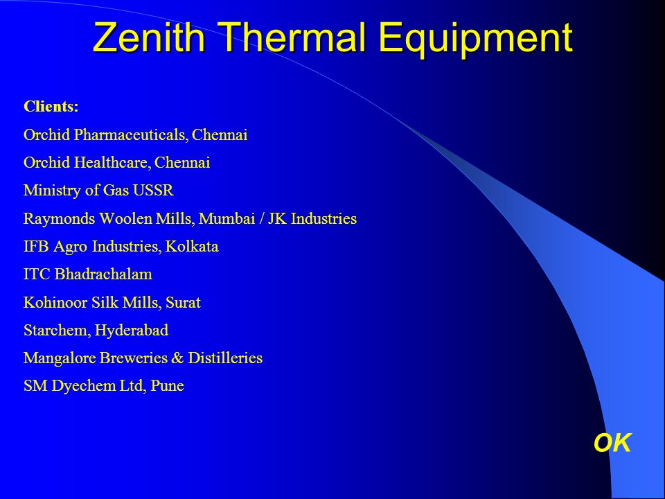 Zenith Thermal Equipment