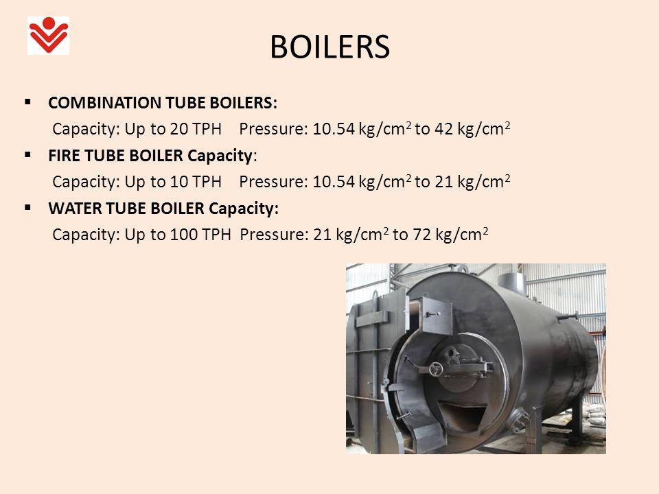 BOILERS COMBINATION TUBE BOILERS: