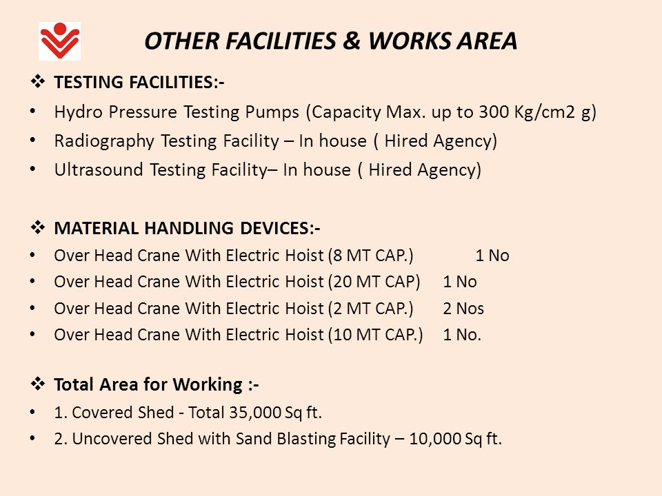 OTHER FACILITIES & WORKS AREA