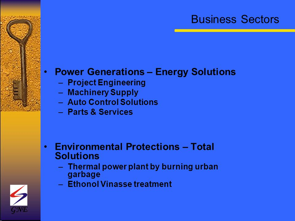Business Sectors Power Generations – Energy Solutions