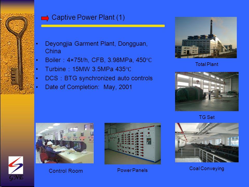 Captive Power Plant (1) GNE Deyongjia Garment Plant, Dongguan, China