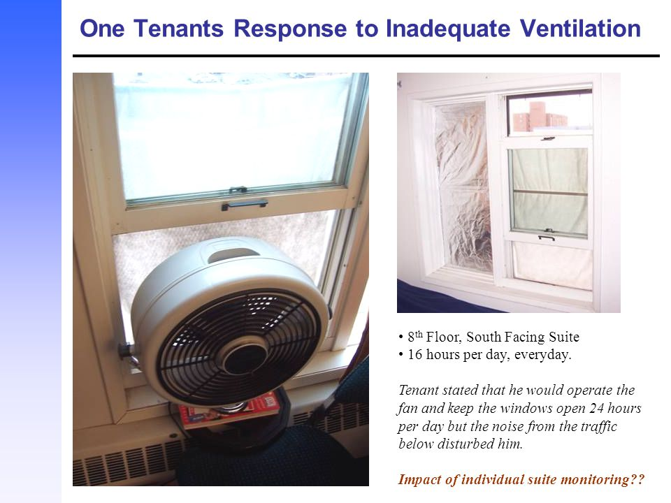 One Tenants Response to Inadequate Ventilation