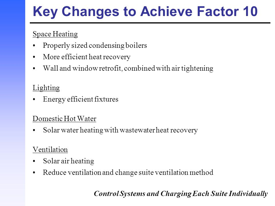 Key Changes to Achieve Factor 10