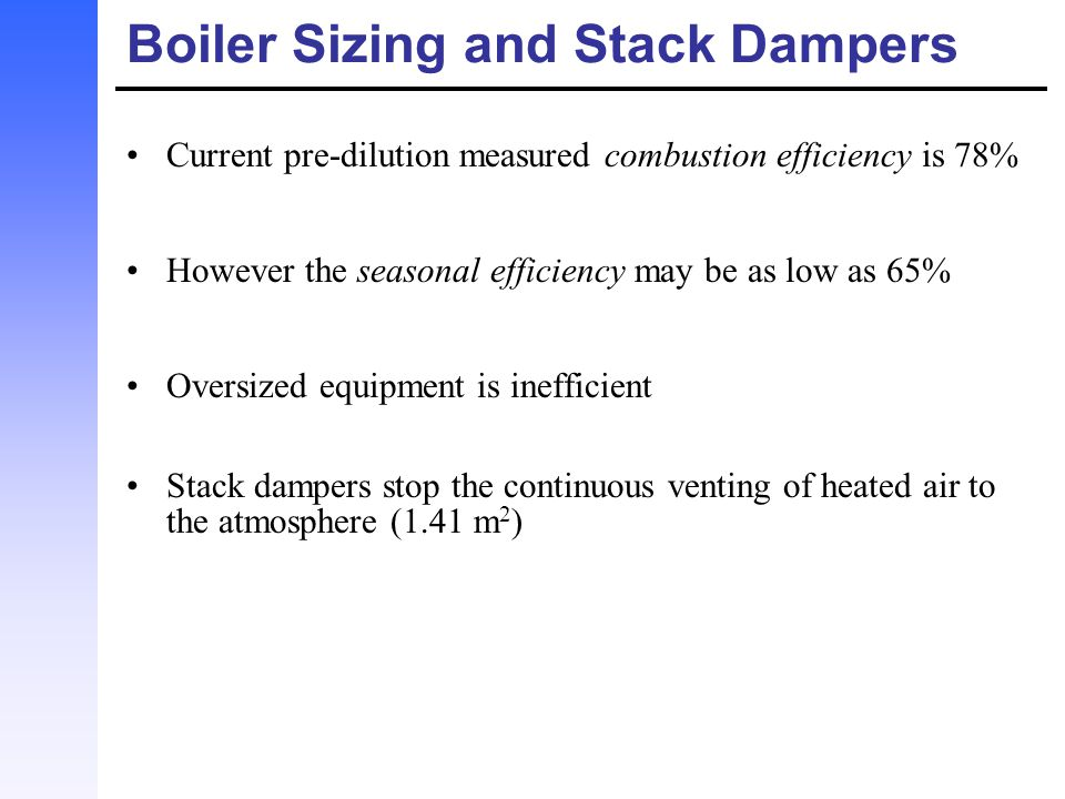 Boiler Sizing and Stack Dampers