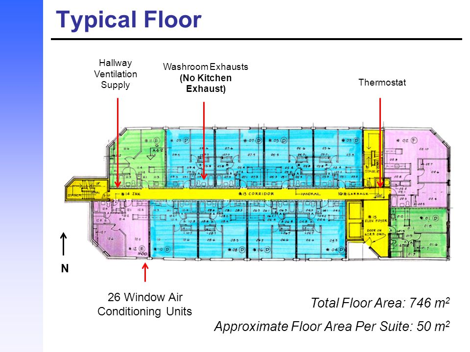 Typical Floor Total Floor Area: 746 m2