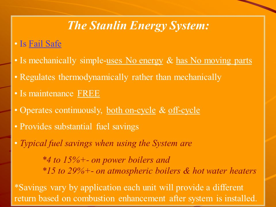 The Stanlin Energy System: