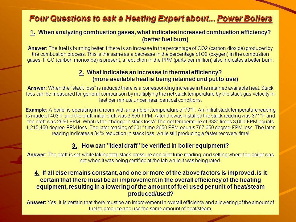 Four Questions to ask a Heating Expert about. Power Boilers 1
