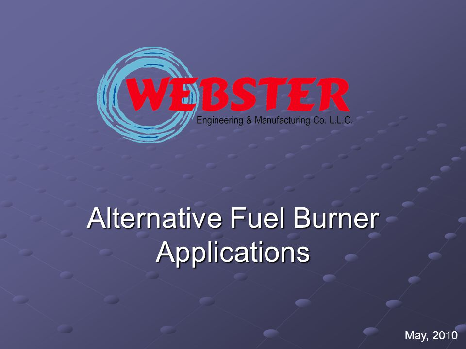Alternative Fuel Burner Applications