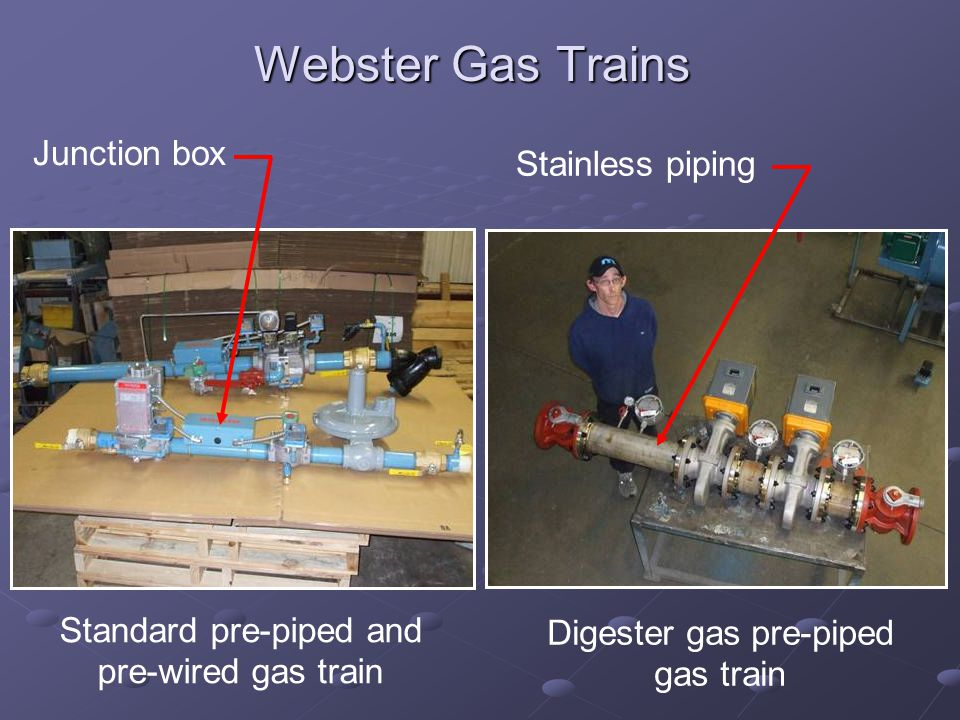 Webster Gas Trains Junction box Stainless piping