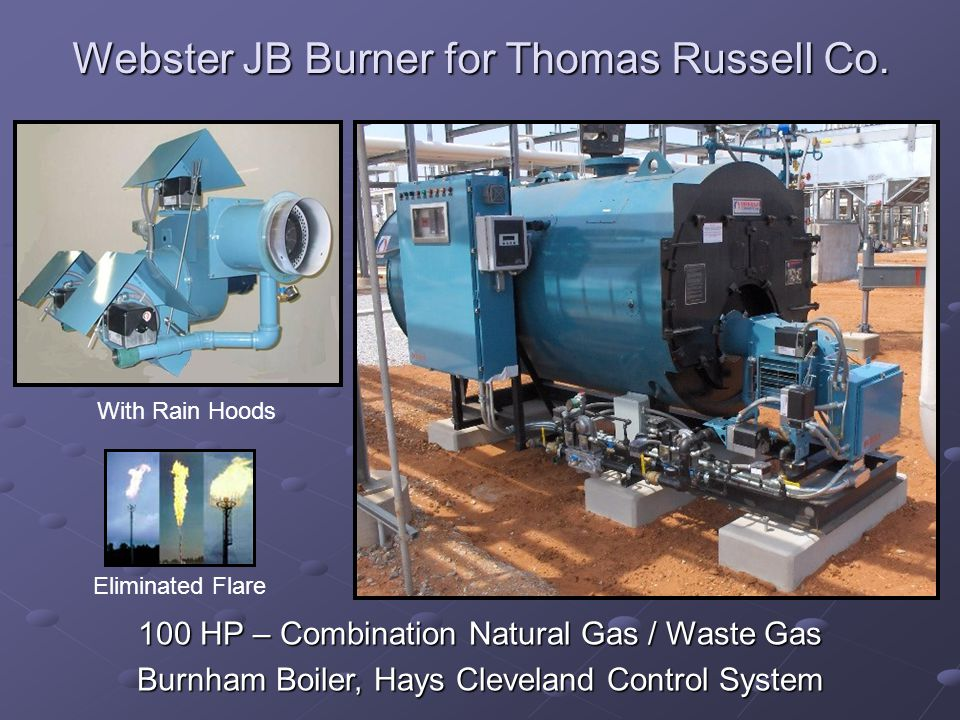 Webster JB Burner for Thomas Russell Co.