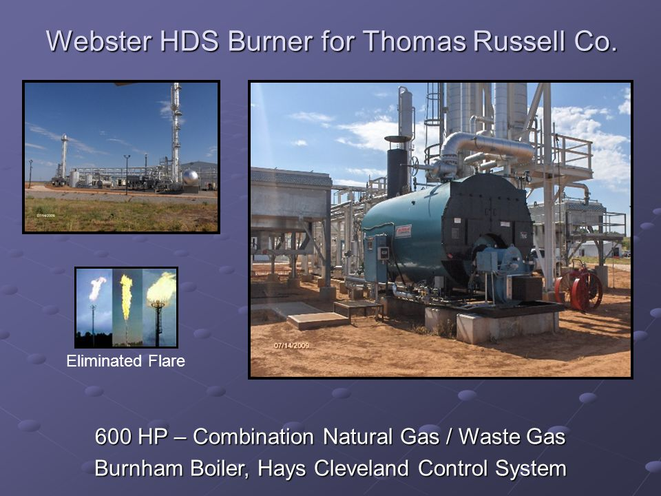 Webster HDS Burner for Thomas Russell Co.