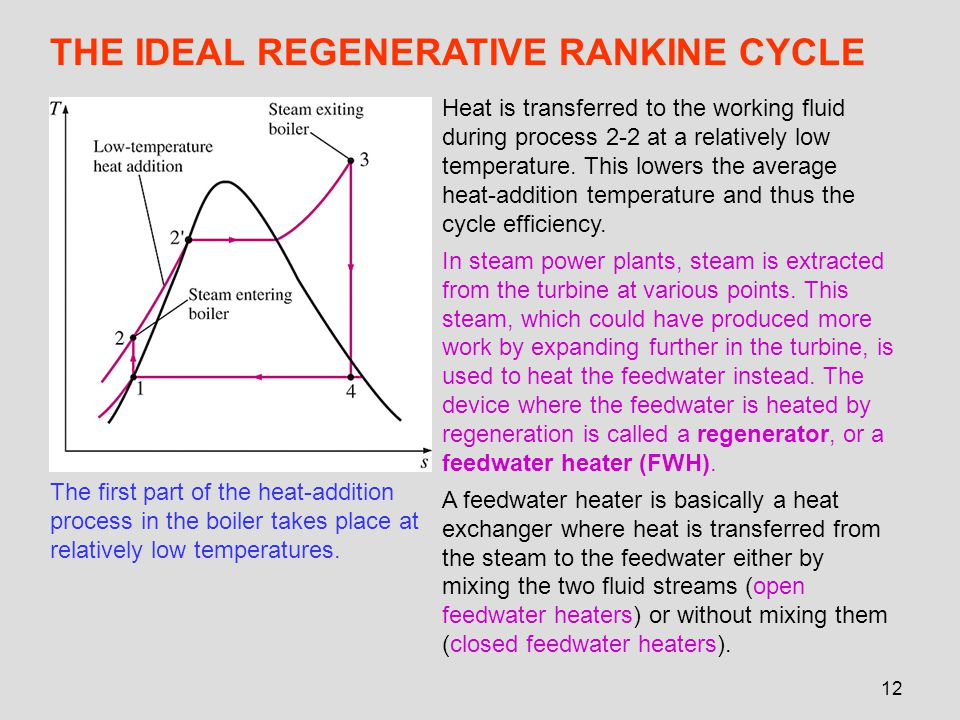 THE IDEAL REGENERATIVE RANKINE CYCLE