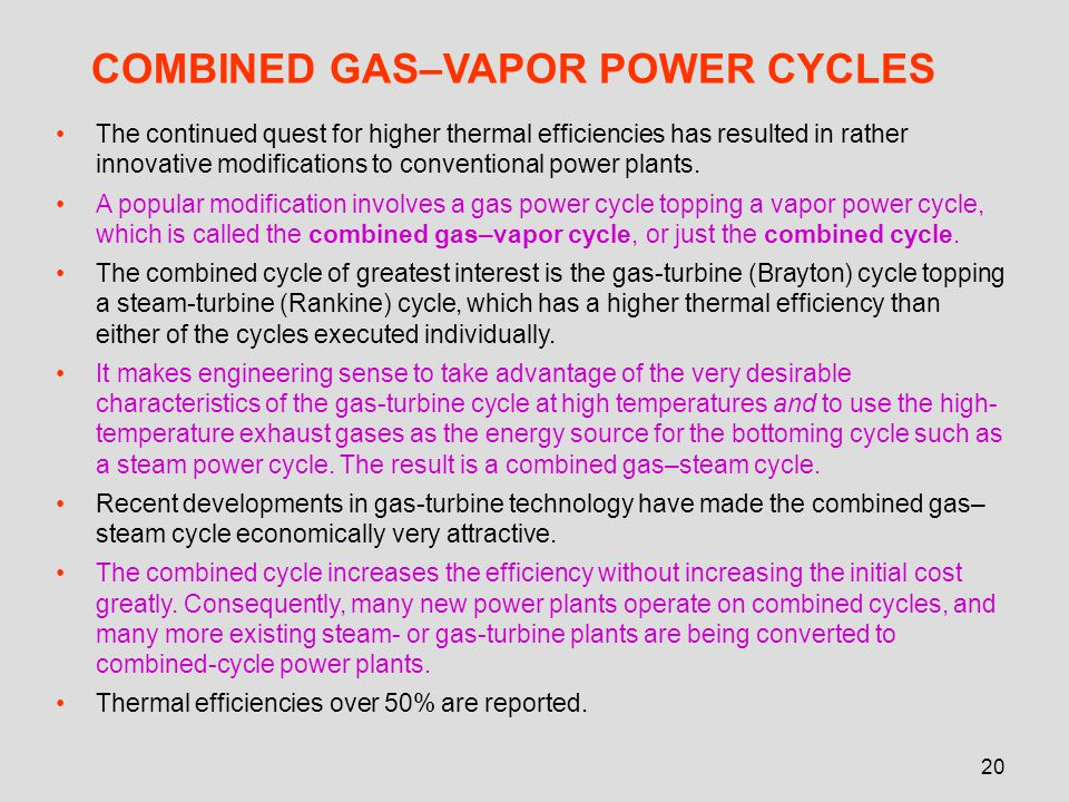 COMBINED GAS–VAPOR POWER CYCLES
