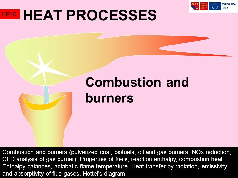 HEAT PROCESSES Combustion and burners HP10