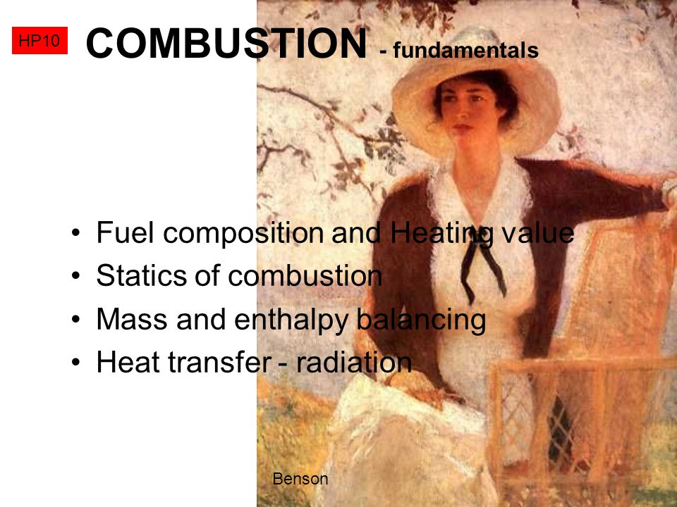 COMBUSTION - fundamentals