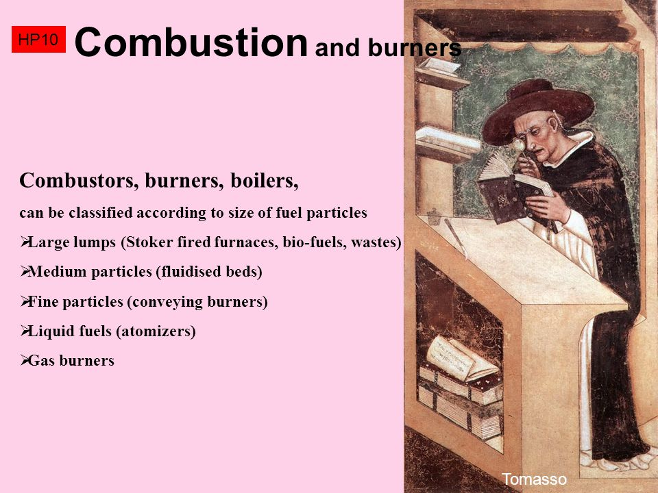 Combustion and burners
