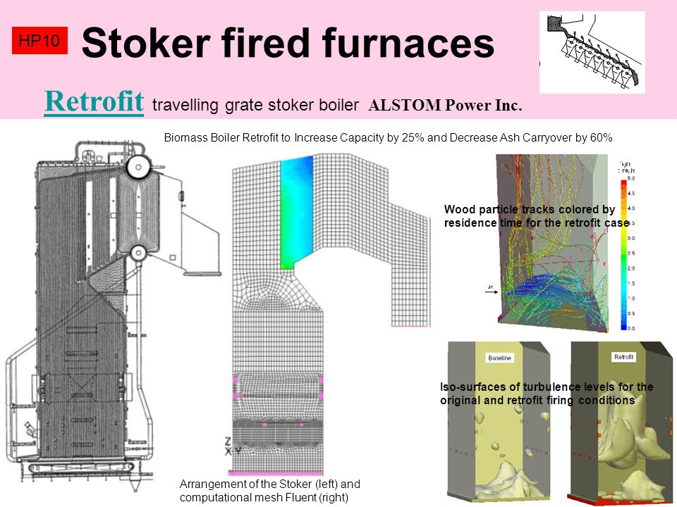 Stoker fired furnaces HP10. Retrofit travelling grate stoker boiler ALSTOM Power Inc.