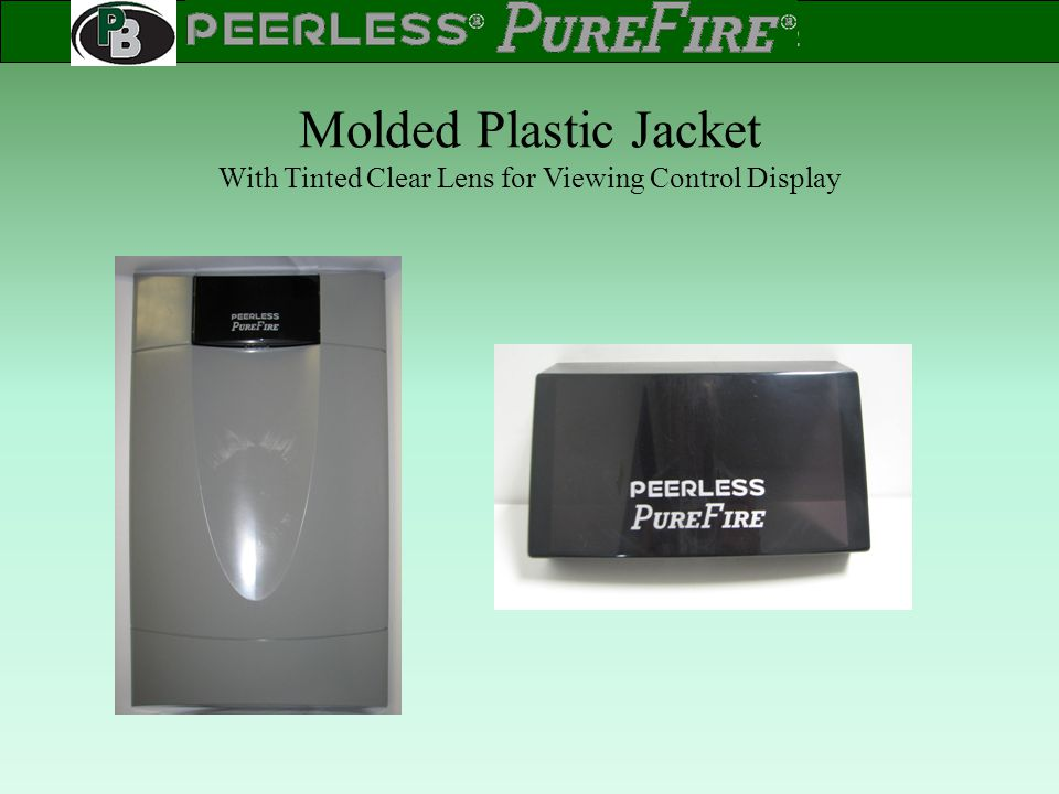 Molded Plastic Jacket With Tinted Clear Lens for Viewing Control Display