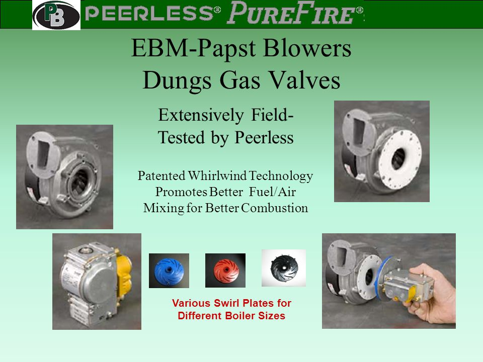 EBM-Papst Blowers Dungs Gas Valves