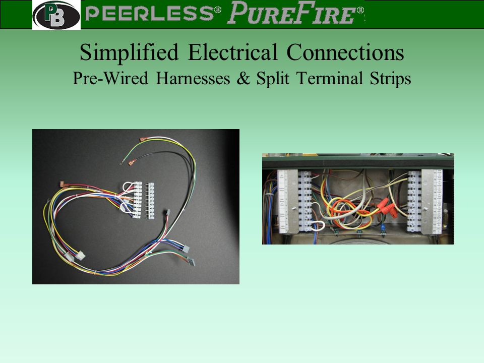 Simplified Electrical Connections Pre-Wired Harnesses & Split Terminal Strips