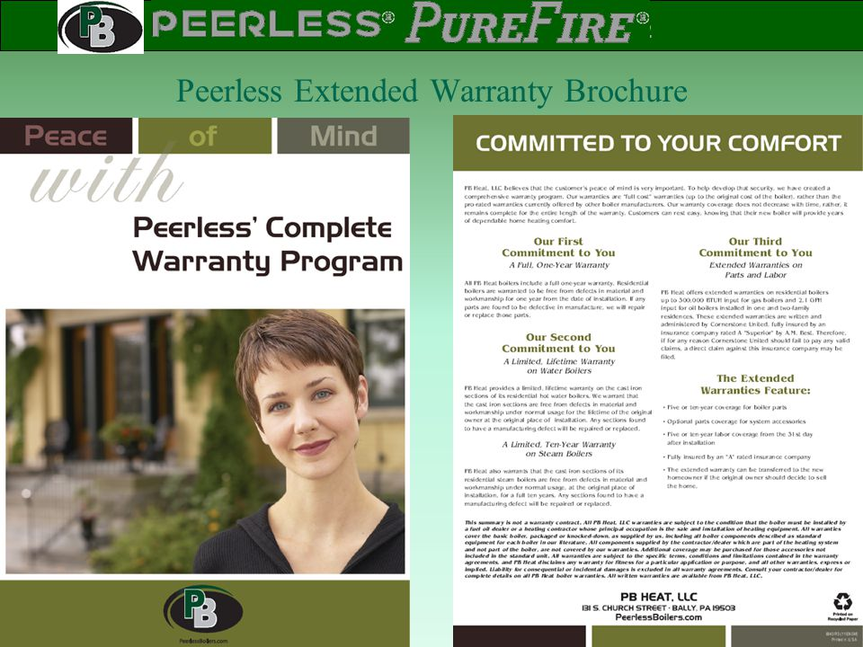 Peerless Extended Warranty Brochure